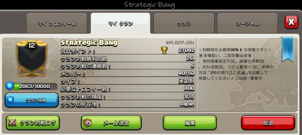 Strategic Bang プロフ画像